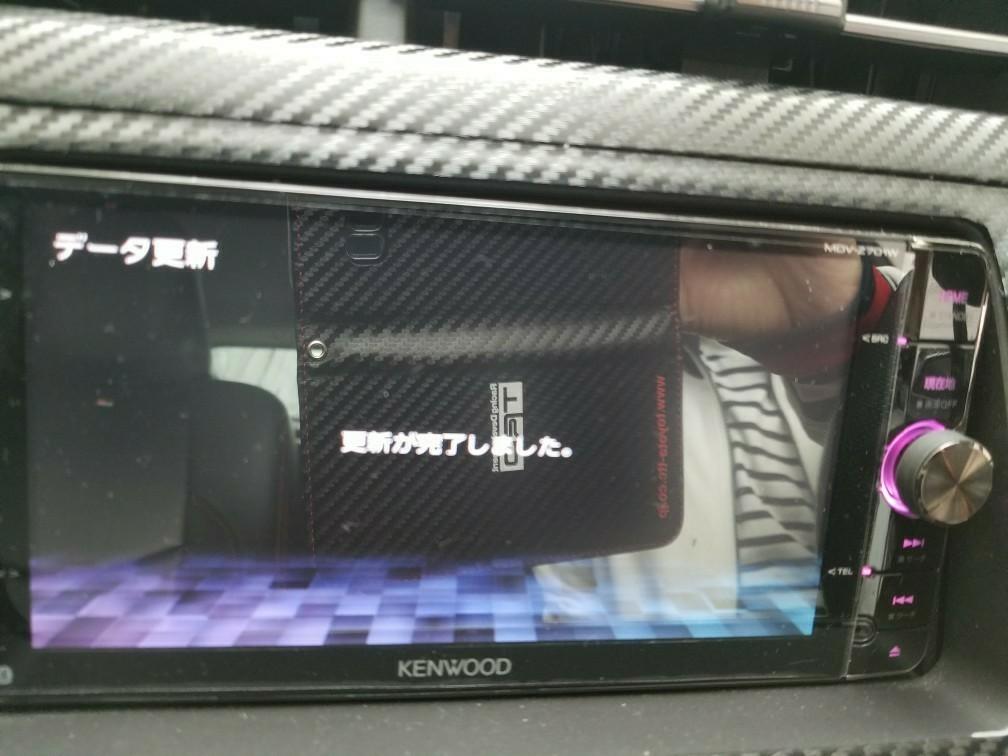 地図データ更新【KENWOOD MDV-Z701W】