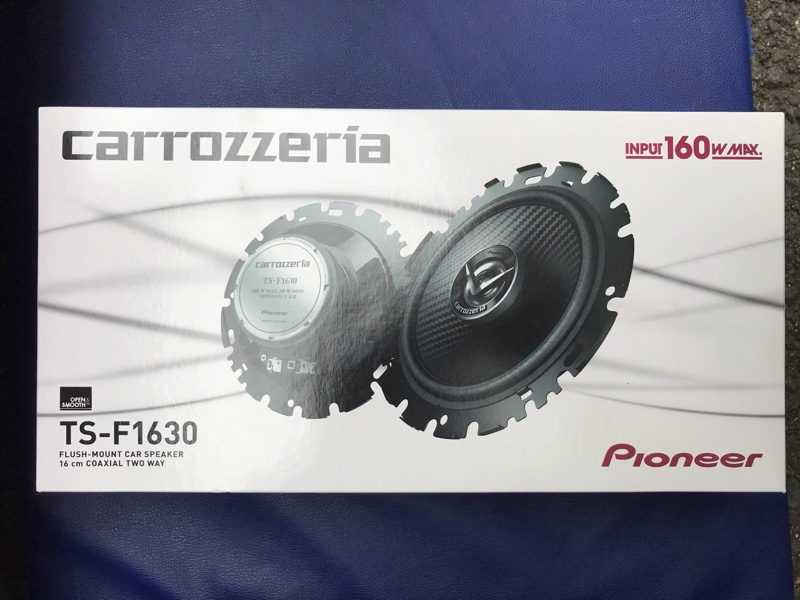 Pioneer TS-F1630 スピーカー取付