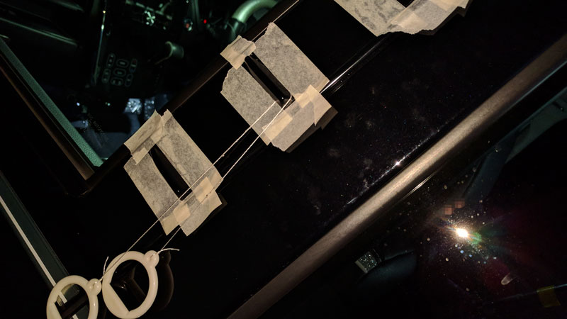 エアロフィンプロテクター(ボルテックスジェネレーター)塗装 今度はウレタンクリアー編