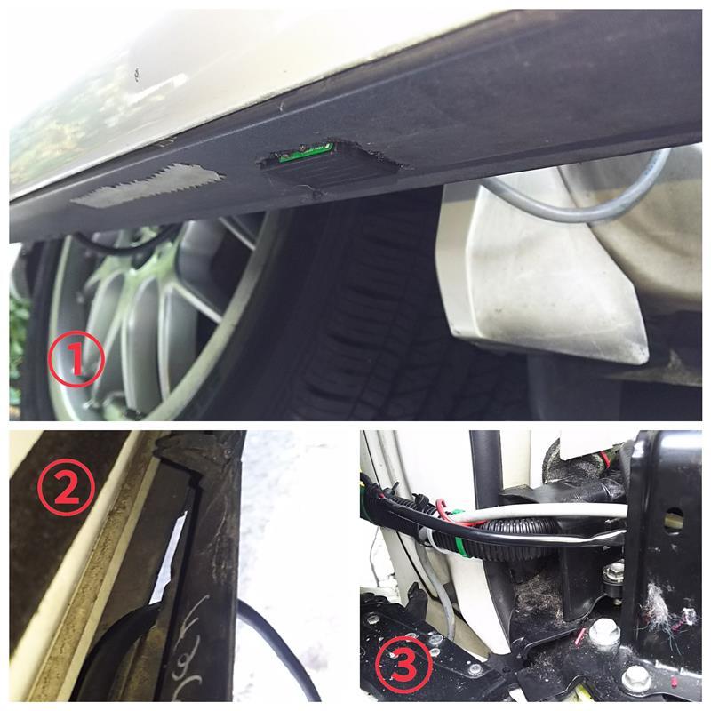 セレナ風ハンズフリーオートスライドドアのセンサ位置変更