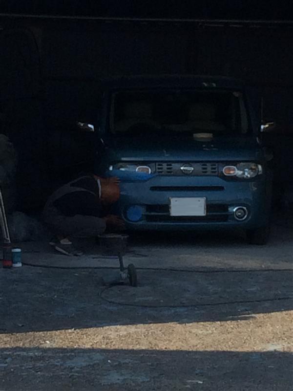 RHフロントバンパー修理・板金塗装