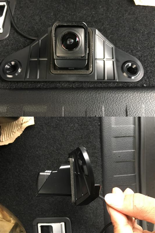 バックカメラ取付