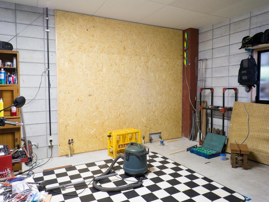 ガレージの壁に Osb 合板を カワサキ Z1000 By Bennie2019 みんカラ