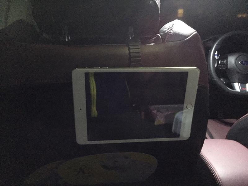 後席リヤモニター iPadモニター化 装着確認編