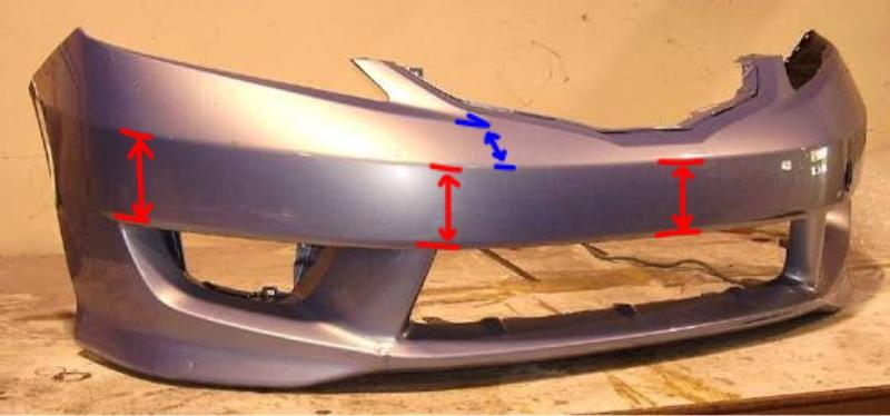 スプーンバンパーの角度変更(1)