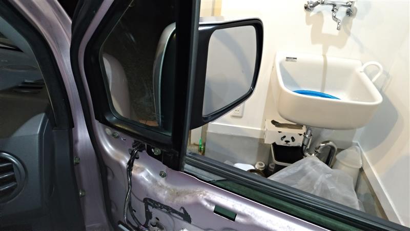 運転席側ドアミラー交換