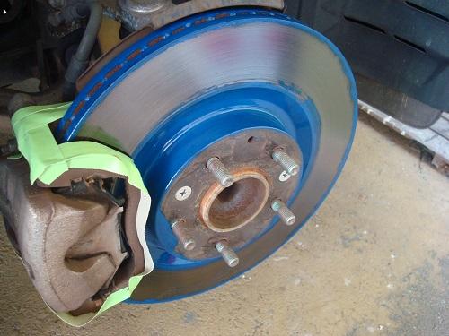 ハブリング取付とローター塗装