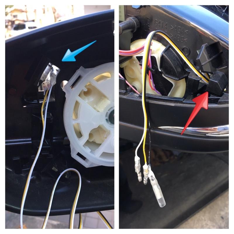 シェアスタイル LEDウインカーミラー取付①