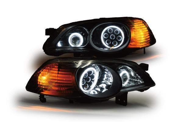 RA6,7,8,9オデッセイ インナーブラック バルカン+プロジェクターイカリングヘッドライト