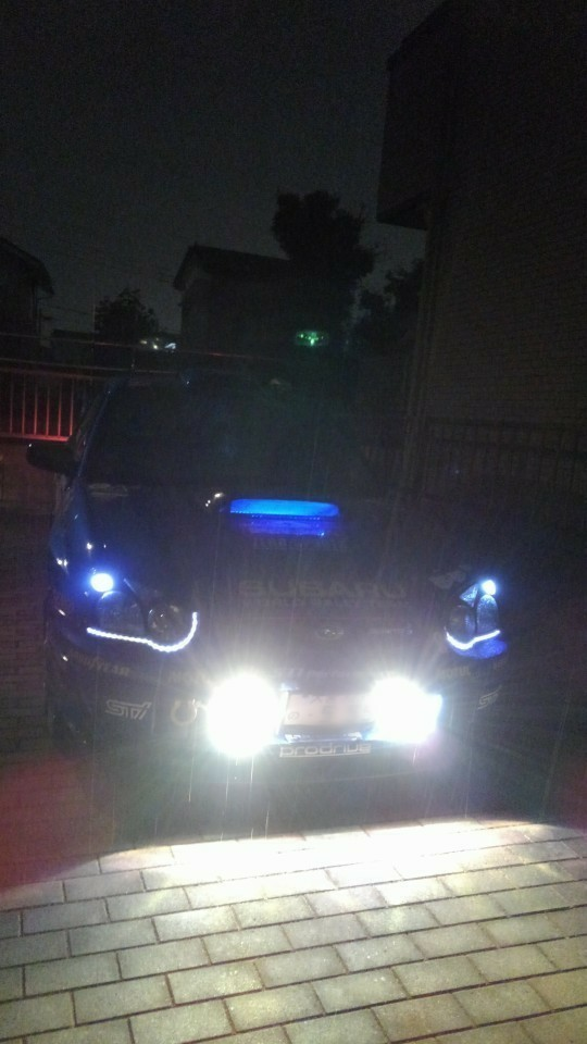 (*´`)…夜間走行にフォグランプ!