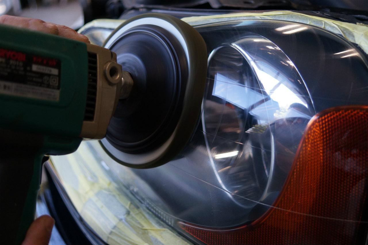 XC90 ライト復活作業を進め