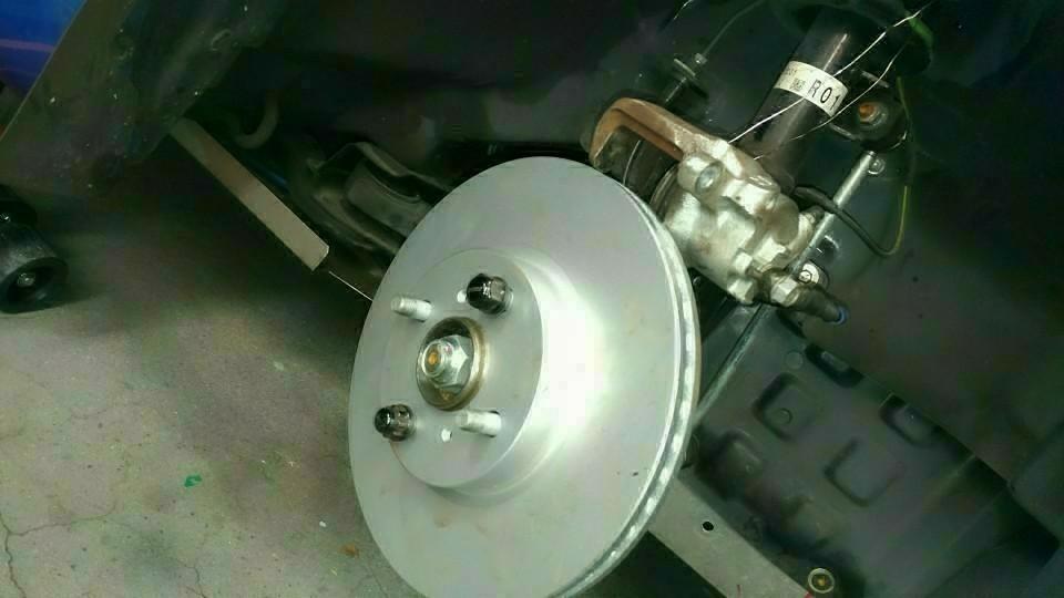 zn6(86)用ブレーキキャリパ移植作業①(必要部品)対象車種 LA400K コペン 流用 加工