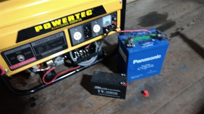 発電機試運転とオイル交換