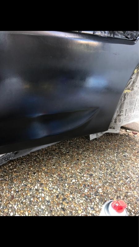 ドアパネル補修塗装〜磨き1