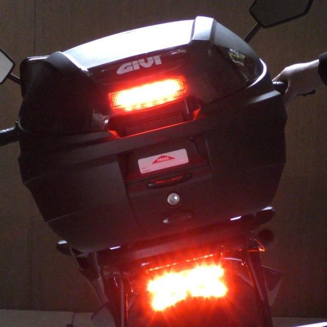 GIVI箱のストップランプを明るくしてみる