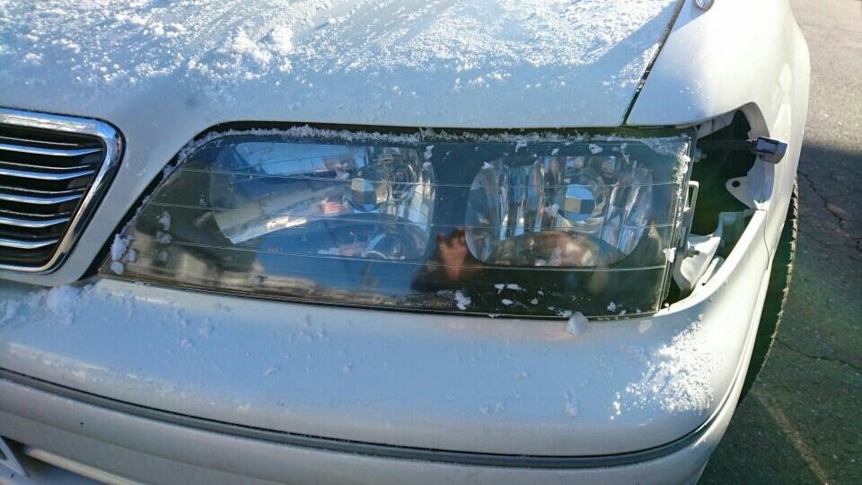 インナーブラック ヘッドライト加工