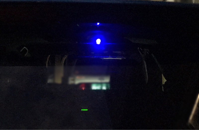 リアドライブレコーダーと点滅LED設置