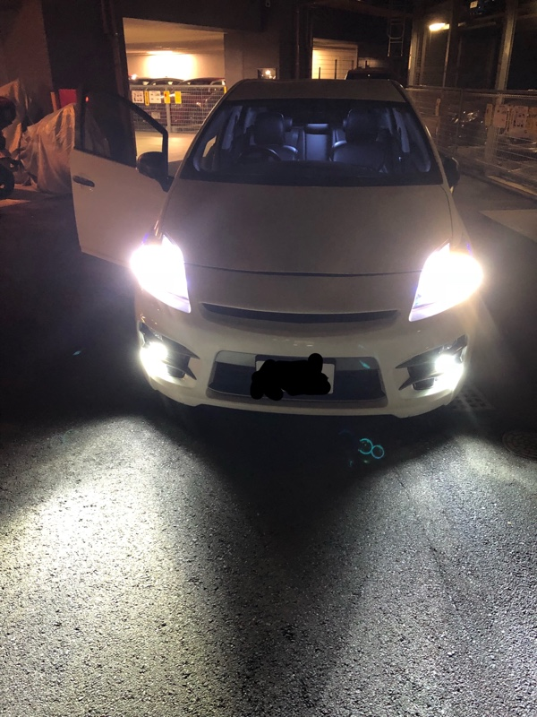 車検後のヘッドライト交換