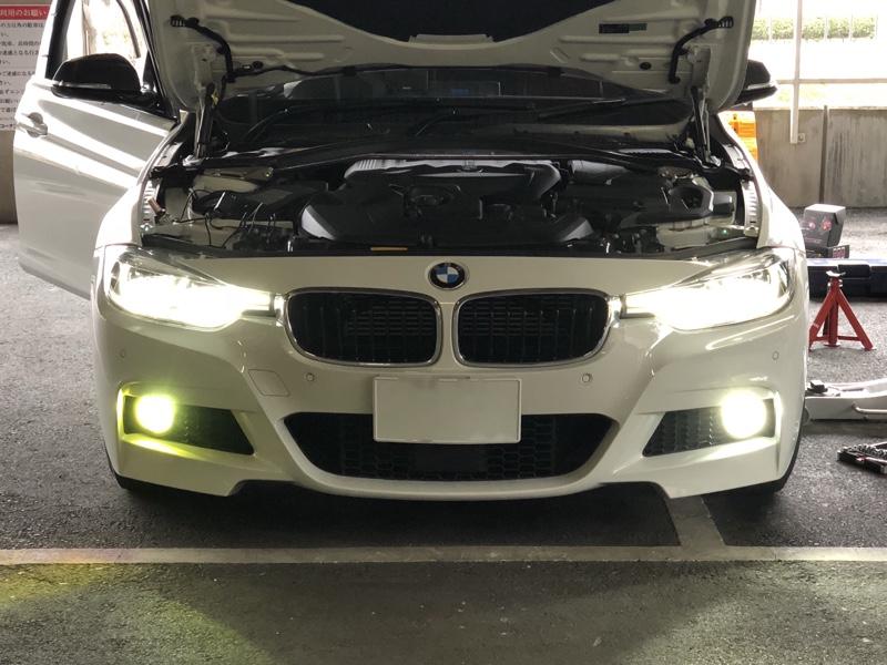 H8 LED/RGB フォグランプ装着