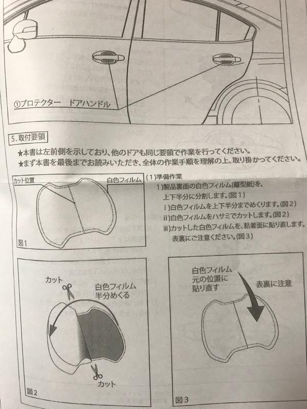 STI ドアハンドルプロテクター取付