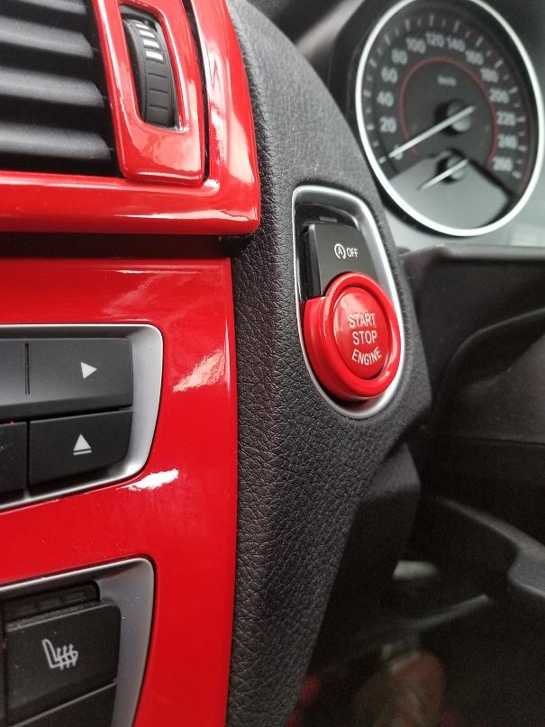BMW Start/Stop Button 交換 (RED)