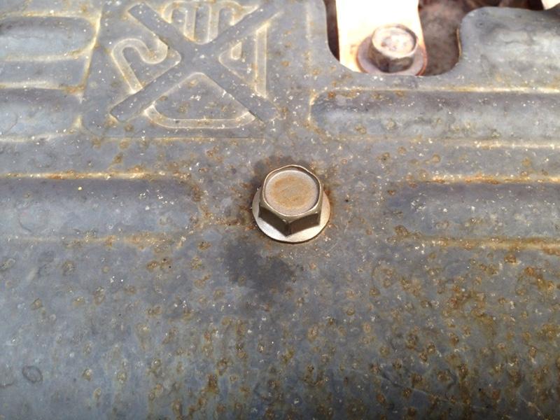 エキマニカバー 遮熱板 ボルト交換