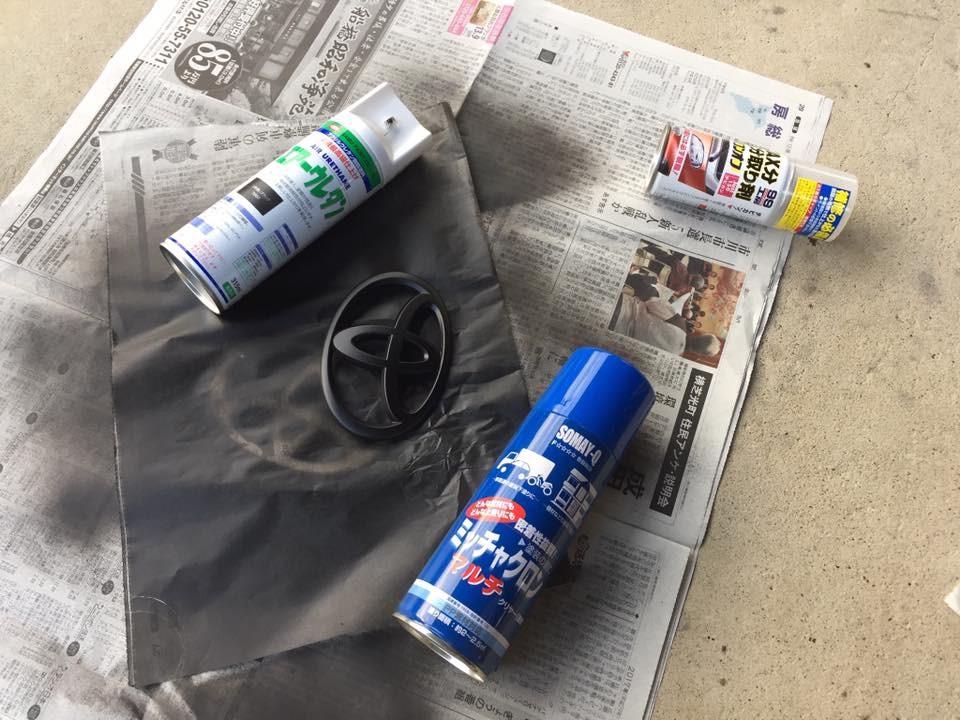 フロントエンブレム塗装