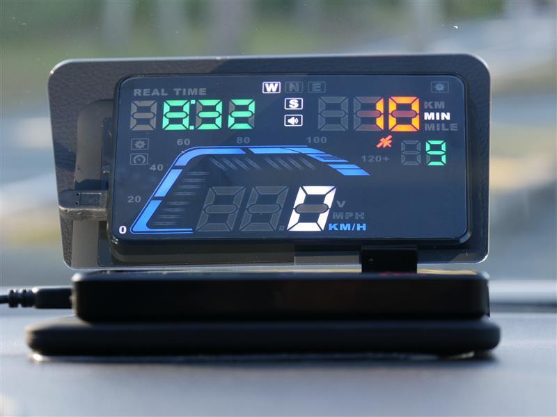 HUD ヘッドアップディスプレイ 車載スピードメーター 取り付け