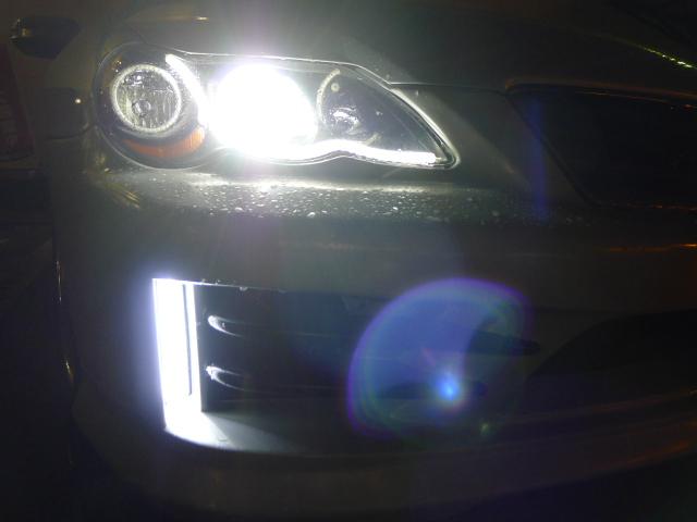 LEDデイライト(フォグランプ配線から代替)取り付け