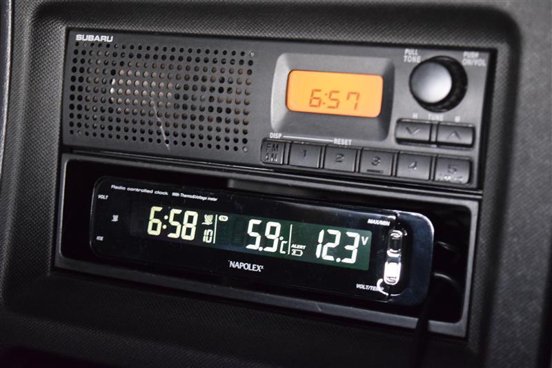 NAPOLEX電波時計&温度計&電圧計の取り付け