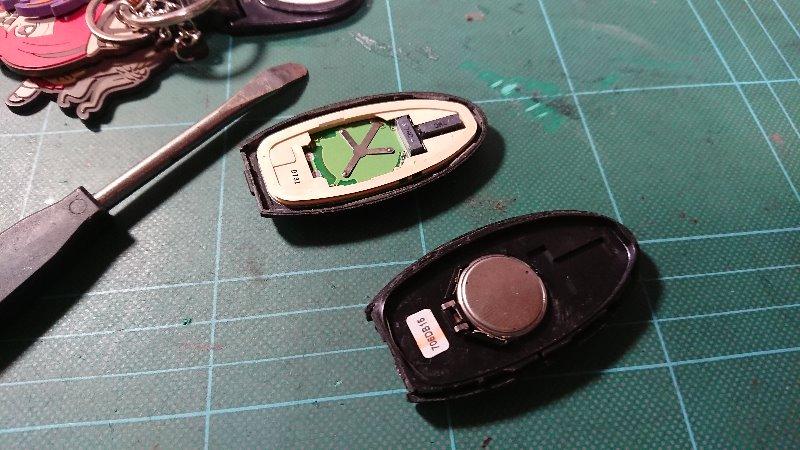 インテリキー電池交換