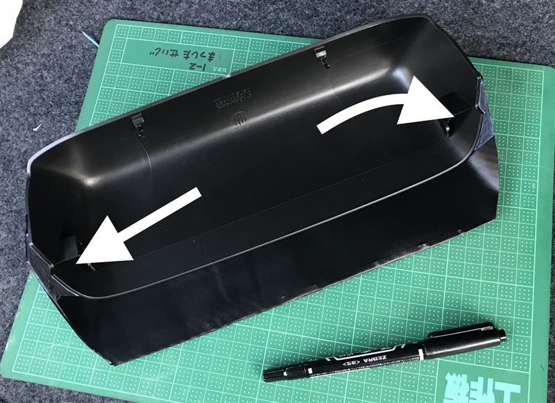 ハイマウントストップランプ、光漏れ対策