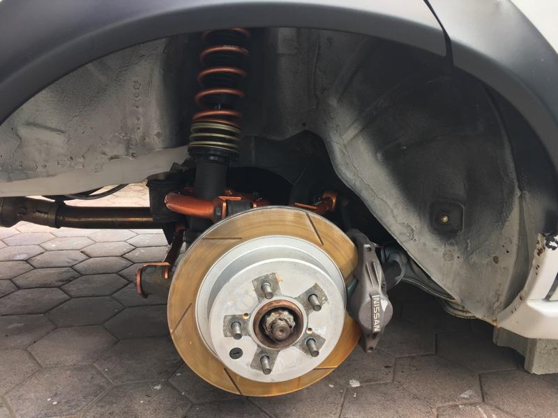 A31セフィーロ タイヤハウス塗装
