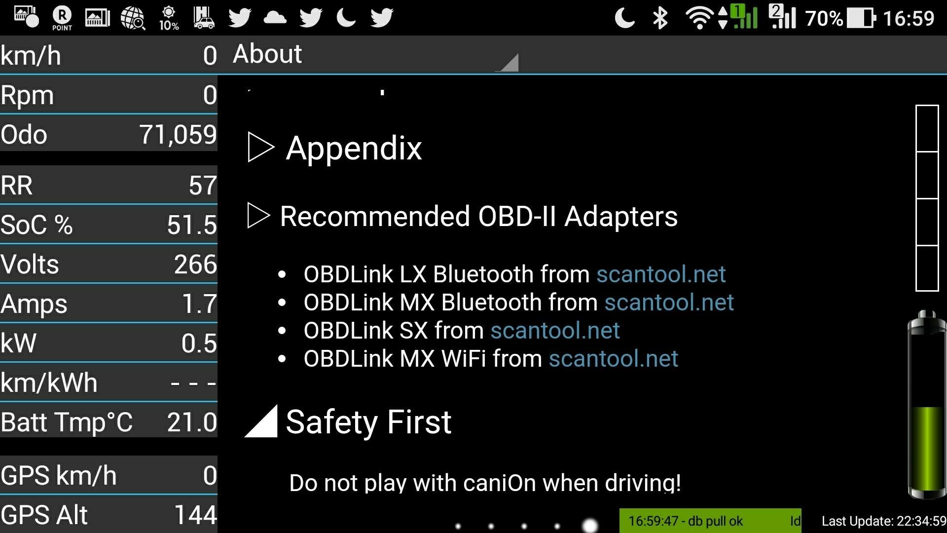 一応、caniOnは、USB接続できるOBDlink SXもサポートしているとのことです。これを信じて、購入してみました。<br />
