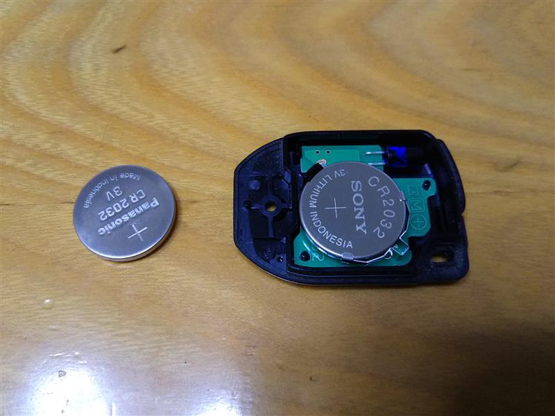 キーレスの電池を交換しますた!( ゚Д゚)ゞ