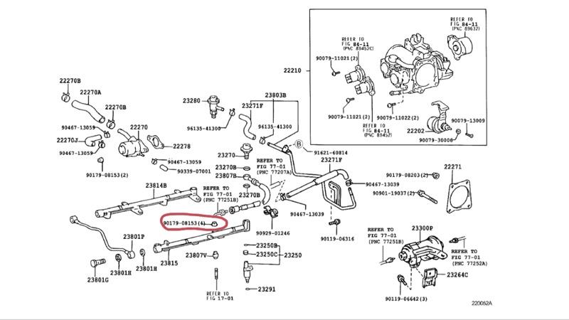 インジェクター清掃とゴム部品の交換