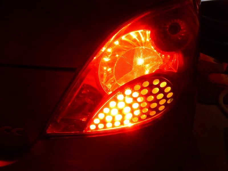 Side Lamp & Fog Lamp Faulty の警告の続き