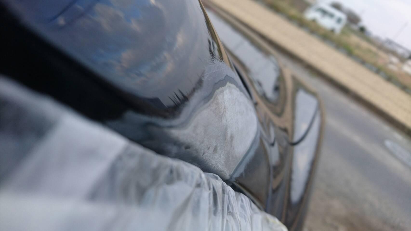 右側 Aピラー鈑金修理&ヘッドライト磨き