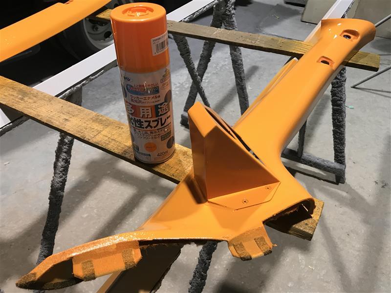 オレンジ塗装*Aピラー編*