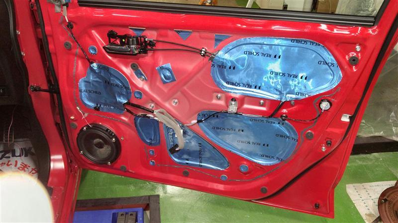 第三回納車整備 (スピーカー取り付け、フロントドアデッドニング)