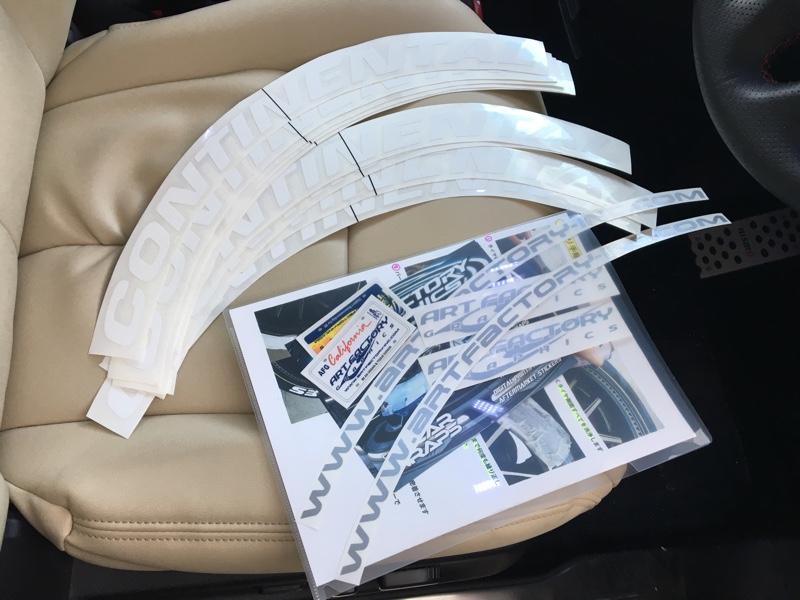 タイヤステッカーを貼ってホワイトレタータイヤにっ(`_´)ゞ‼︎