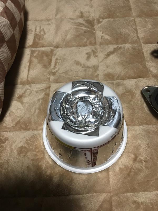 レヴォーグ純正スピーカー流用&カップ麺の容器で簡単デッドニング