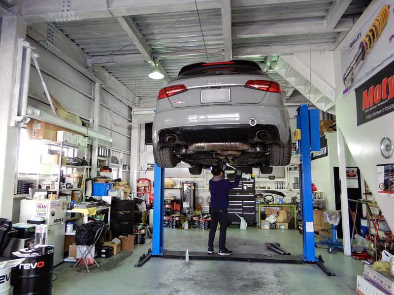 RS3に英国ミルテックのセンターマフラー装着