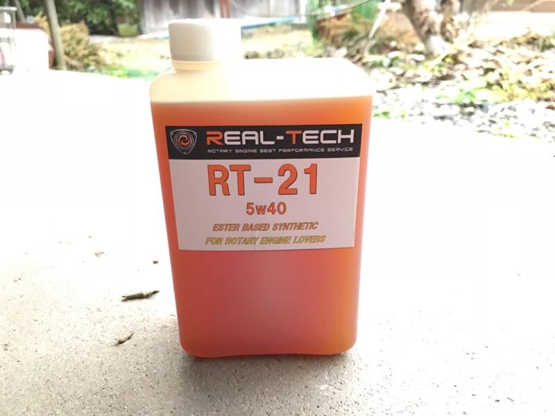 REAL TECH RT-21 エンジンオイル 投入