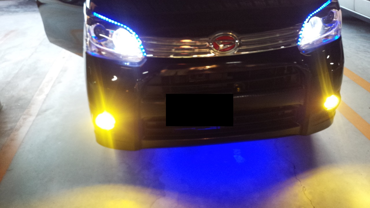 フォグランプ(H8)LED更新