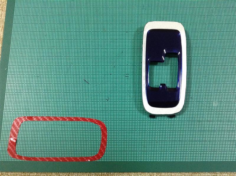 シフトノブ周りにダイノックシートを貼りました。その①