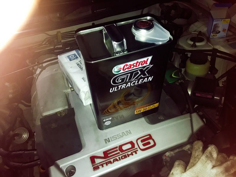 バッテリー&エンジンオイル、フィルター交換