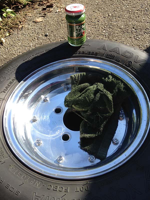 タイヤのローテーション