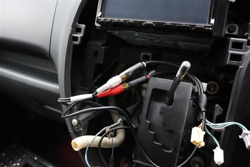 AUX&USBポート増設作業 その①