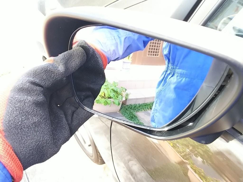 ドアミラー填め込み時の簡単な方法